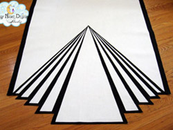 art deco aisle runner