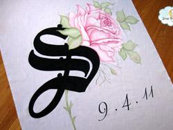 starry night design floral aisle runner 1