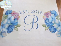 starry night designs floral aisle runner 2