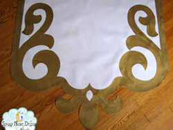 gold aisle runner