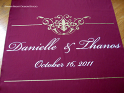 burgundy aisle runner