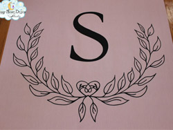 traditional aisle runner initials 15