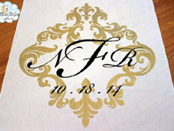 traditional aisle runner initials 2