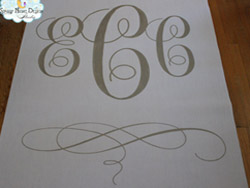 monogram aisle runners