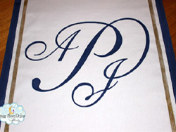 traditional aisle runner initials11